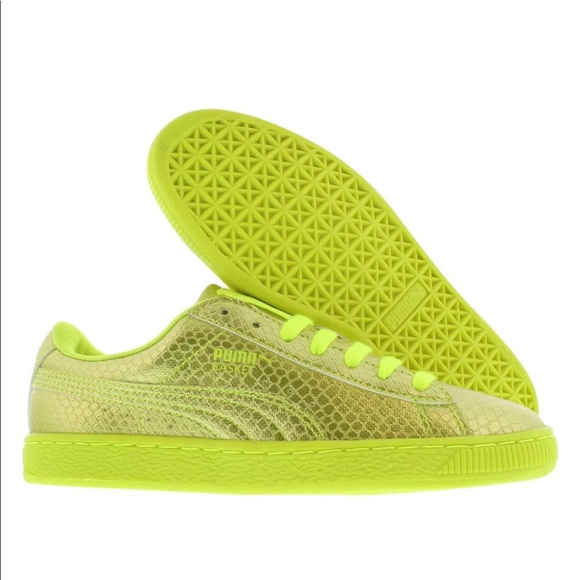 bright yellow puma shoes